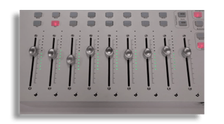 Nine Touch Sensitive 100 mm Faders