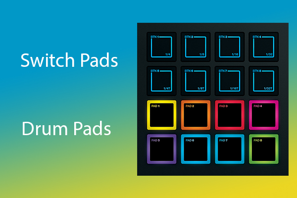 8 dual-function pads