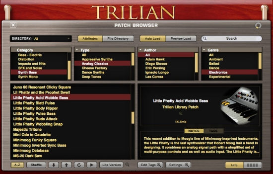 Trilian Patch Browser
