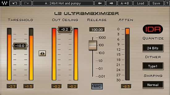 L2 Ultramaximizer for Mixing and Mastering