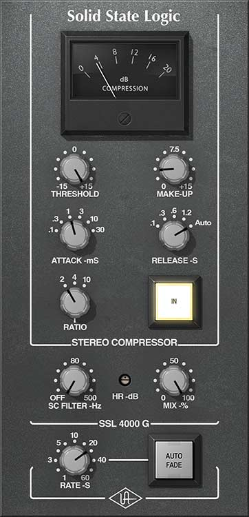 SSL 4000G Bus Compressor