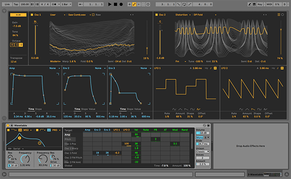 Ableton Live Wavetable's Interface
