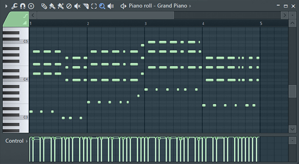 FL Studio Piano roll