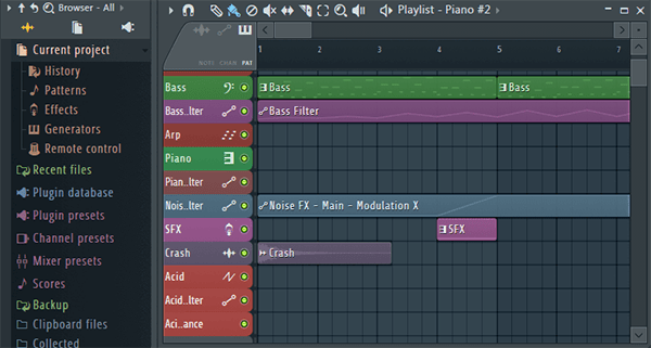 FL Studio - Playlist and Browser