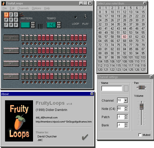 Fruityloops 1.0 1998