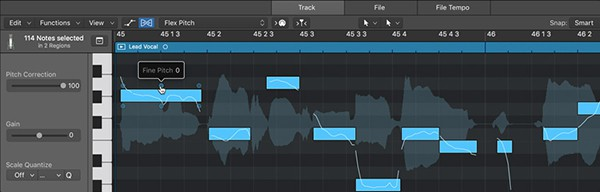 Logic Pro X - Flex Pitch
