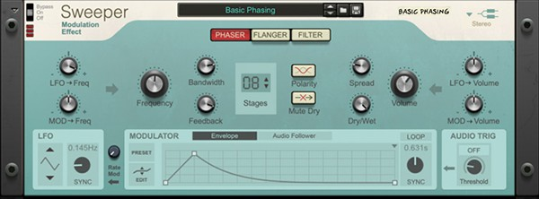 Reason 11 - Sweeper Modulation Effect Plugin