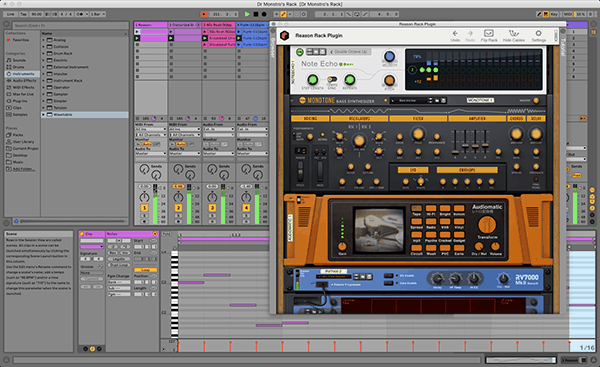 Reason Rack VST3 Plugin with Ableton