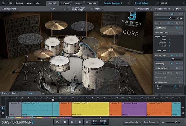 Superior Drummer 3 - DrumsTab