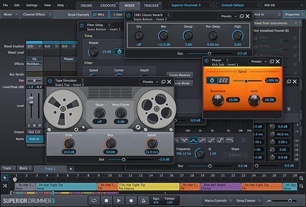 Superior Drummer 3 - MixerTab