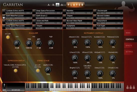 Garritan Instant Orchestra Controls