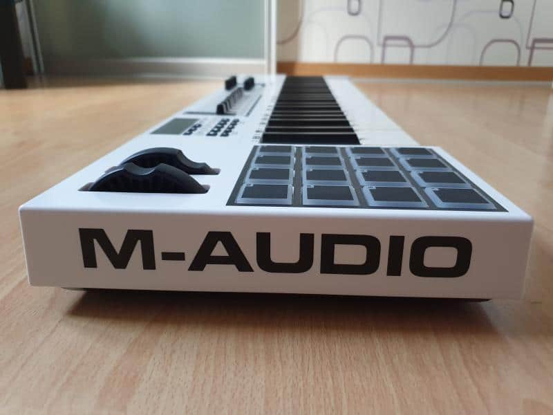 M Audio Code from side