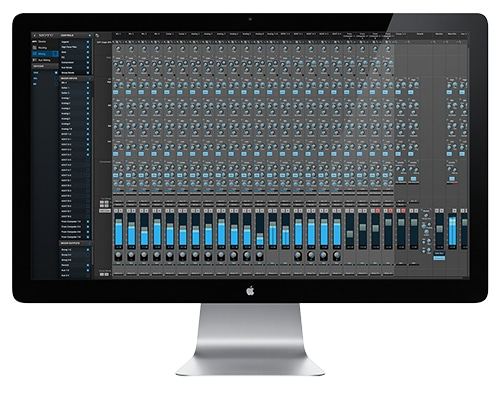 Motu Console style mixing with 48 channels