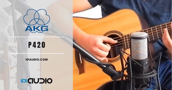 AKG P420 Mic Recording Acoustic Guitar