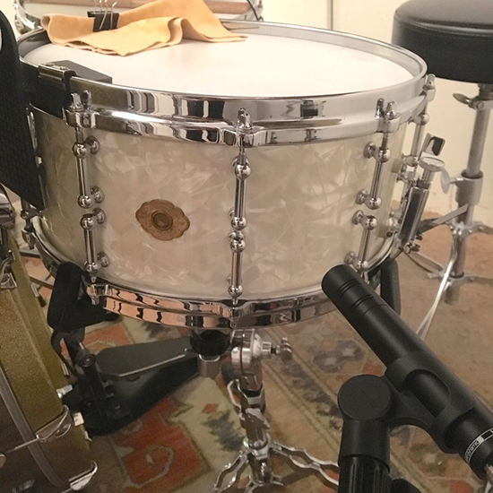 M201 TG Mic on Snare Drum