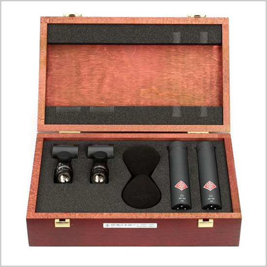 Neumann - KM184 pair inside Wooden Box