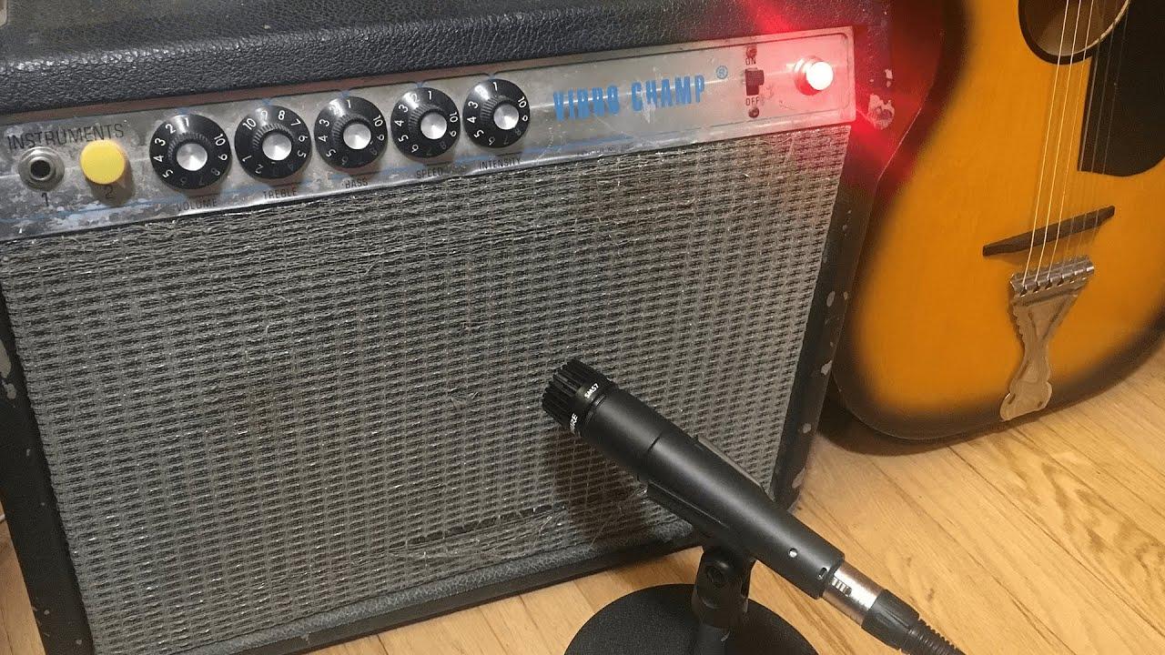 SM57 Mic Recording Guitar Amp