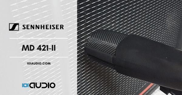 Sennheiser MD 421-II Mic Recording Electric Guitar