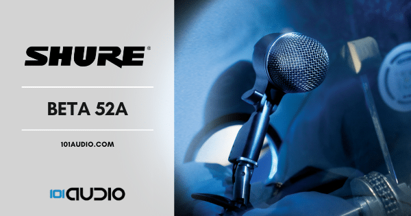 Shure - Beta 52A Mic for Recording Bass Kick Drums