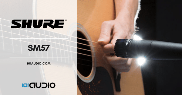 Shure - SM57 Mic Recording Acoustic Guitar